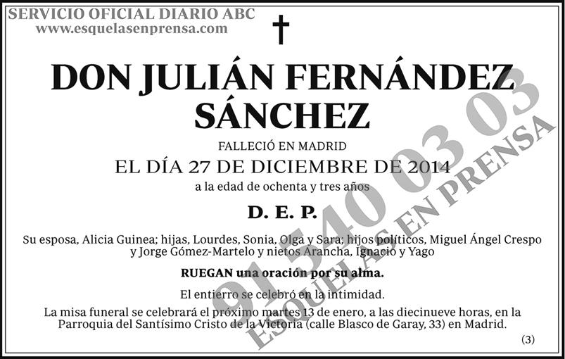 Julián Fernández Sánchez
